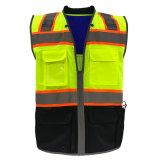 100% poliéster Tricot Chaleco reflectante de alta visibilidad