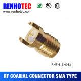 Conector del cable coaxial SMA de la soldadura del enchufe del montaje SMA del chasis de SMA