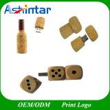 Azionamento di legno di legno dell'istantaneo del USB del USB Pendrive della bottiglia di vino di Thumbdrive