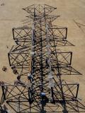 Hochspannungskraftübertragung-Zeile Gitter-Stahl und Röhrenaufsatz