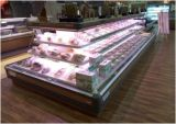 Congelador vertical del escaparate de la visualización del supermercado