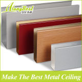 2018 Venta caliente banda de chapa de madera del techo de aluminio