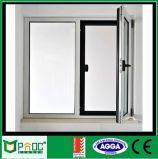 Feritoia di vetro incorporata della doppia di profilo finestra di alluminio di vetro della stoffa per tendine