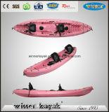 2 + 1 assentos família pesca caiaque oceânico com pás