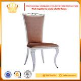 2017 Nuevo Diseño de lujo en acero inoxidable silla de comedor de banquetes de cuero de PU