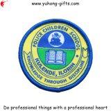 Runde Schule gesponnenes Abzeichen für Kleider (YH-WB029)