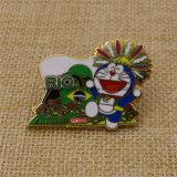 Distintivi duri olimpici 2016 di Doraemon del metallo dello smalto di Rio
