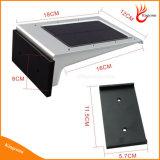 Indicatore luminoso esterno esterno chiaro solare dell'indicatore luminoso LED della parete di obbligazione del sensore di movimento della batteria 20 LED PIR di Rechangable