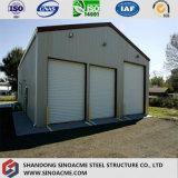 Vertiente prefabricada barata del garage de la estructura de acero del diseño moderno
