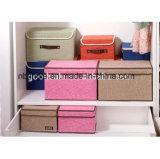Cadre de mémoire décoratif pliable de carton de tissu de toile chaud de vente avec Lids&Handles