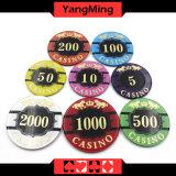 Anti-Falsificar/microplaquetas de cristal do póquer com o casino da imagem do tigre lasca Ym-CP020/CP021