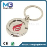 Moeda personalizada Keychain do carro de compra do projeto