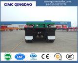 3 de Container van de as 50t wijdde Vlakke Semi Aanhangwagen Lowbed