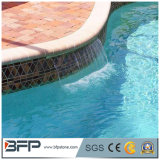 Azulejos de la piscina del travertino de las piedras que hacen frente de la piscina del travertino