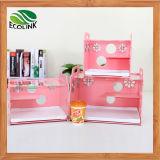 Placa de eco animais de pequeno compartimento único com decoração Habitat de animais pequenos Hamsters Gerbil