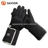 極度の細い冬電池のスマートな制御男女兼用の黒の熱くする手袋はさみ金