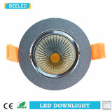 Regulable LED COB Downlight 7W Blanco Natural Aluminio Arena Plata