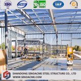 Chambre structurale en acier préfabriquée élevée/construction d'étage neuf du modèle deux