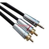 Hoge Kabel 3.5mm tot 2 RCA van het Eind