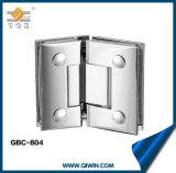 Dupla de chuveiro de liga de zinco Dobradiça de porta Dobradiça de vidro