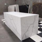 Venda a quente cozinha barata em mármore de Carrara artificial de Pedra Branca por grosso de bancada de quartzo