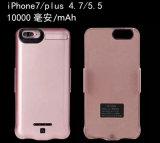 Fuente de batería móvil de la batería de la potencia del caso 10000mAh para iPhone7/7plus