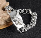 Europa 316L Steel Jewelry Casting Wings Eagle Hawk Charm Bracelet
