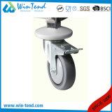 Chariot à deux niveaux de chariot à service de plateau de tailles importantes d'acier inoxydable de tube mobile à quatre roues de grand dos pour la cuisine
