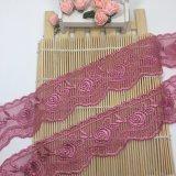 工場標準的な卸売6.5cmの幅の刺繍の衣服のアクセサリのためのナイロン純レースポリエステル刺繍のトリミングの空想の網のレース及びホーム織物及びカーテン