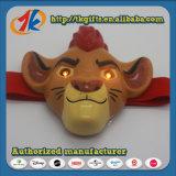 Lustiges Plastiktierlöwe-Figürchen-Kopf-Lampen-Spielzeug