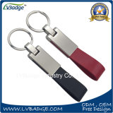 Venda por grosso de metais de liga de zinco ou Personalizados Chaveiro de couro