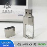 De Schijf van Pendrive 8GB 16GB 32GB 64GB USB van de Aandrijving van de Flits van de Stok van het kristal USB met LEIDEN Licht voor de Gift van de Bevordering