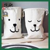 Bolsos reciclados 100% de la bolsa del lazo del algodón del 100% para el empaquetado del regalo
