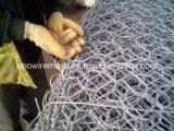 Окунутая сетка Gabion ячеистой сети коробки Gabion шестиугольная с горячим