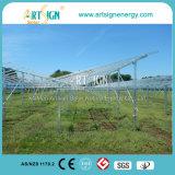 Sistema de tierra solar de acero galvanizado sumergido caliente del montaje el C