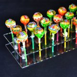 21 Le trou en acrylique transparent Cake Pop Lollipop afficher