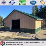 Construction en acier de bâti portique préfabriqué pour l'atelier avec le bureau