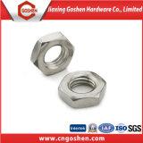 La norme DIN 936 ss304 mince de l'écrou hexagonal