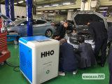 El garage oxhídrico mantiene la arandela del coche del equipo