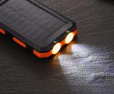 as luzes 9000mAh de acampamento Waterproof o banco móvel solar da potência