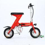 Mini bici plegable roja de la vespa del color 36V