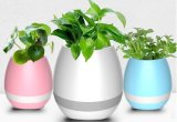 LED Potter de flores ligero Smart Touch Bluetooth inalámbrico Plantador de altavoces