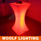 LED 가구 휴대용 LED 플라스틱 다채로운 바 테이블