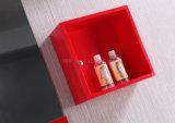 N&Lミラーが付いている赤いPVC浴室用キャビネット