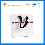 Saco de portador de papel luxuoso branco por atacado de China (projeto do OEM)