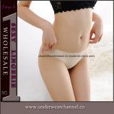 セクシーな脂肪質の女性の継ぎ目が無い皮ひもの下着の短いパンティーの下着(TJS014)