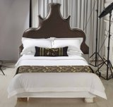 Size Hotel王のシーツの100%年の綿の白い羽毛布団カバーセット