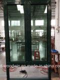 Guichet en aluminium d'interruption thermique chaude de vendeur de Woodwin avec la moustiquaire