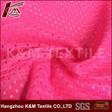 Haute qualité de l'air 100 % polyester tricoté chiffon tissu à mailles pour le sport