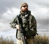 Os homens militares Blusa com capuz de caça no exterior da Jaqueta Softshell impermeável